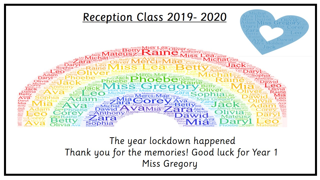 reception rainbow